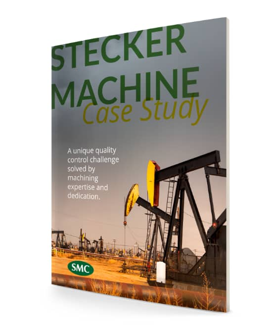 Stecker machine case study magazine cover with oil wells