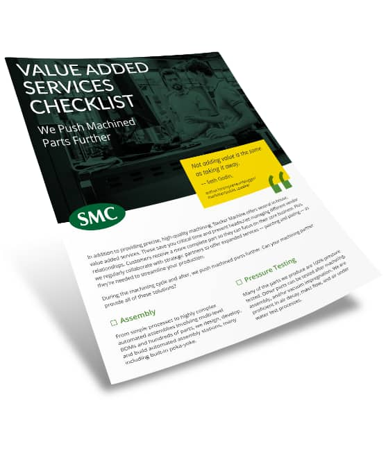 Value added services checklist